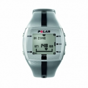 Polar FT4M Men's Heart Rate Monitor Watch (Silver / Black)