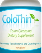 ColoThin Colon Cleanse Detox, 45 count bottle, Weight loss, Dietary Supplement