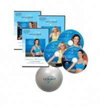 The Complete Physique 57 Workout Kit 3 Disc Set With Exercise Ball