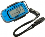 Ozeri 4x3razor Digital Pocket 3D Pedometer with Bosch Tri-Axis Technology from Germany, in Sport Blue