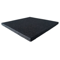 Rubber Cal Eco-Sport Floor Tile-Pack of 3, Coal, 1 x 20 x 20-Inch