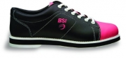 BSI Women's #651 Bowling Shoes, Black/Pink, Size 10.0