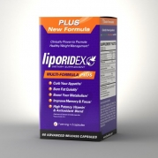 Liporidex PLUS w/ Green Coffee - Multi Formula Thermogenic Weight Loss Supplement Fat Burner Metabolism Booster & Appetite Suppressant - Green Tea, African Mango & more - The easy way to lose weight fast! - 60 diet pills - 1 Box.