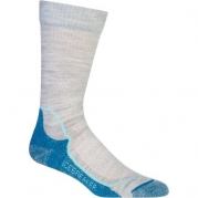 Icebreaker Women's Hike + Lite Crew Socks, Blizzed/Teardrop/Cruise, Small
