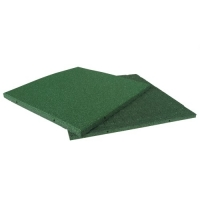 Rubber Cal Eco-Sport Floor Tile-Pack of 3, Green, 1 x 20 x 20-Inch