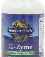 Garden of Life Omega-Zyme Digestive Enzyme Blend, Caplets, 180-Count Bottle