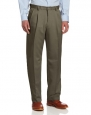 Haggar Men's Cool 18 Gabardine Pleat Front Pant,Taupe,30x30