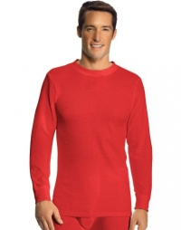 Hanes Men's Thermal Crew, S-Red