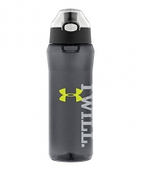 Under Armour Draft Tritan Bottle with Flip Top Lid, Cool Grey, 24-Ounce