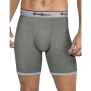 Champion Performance Stretch Long Boxer Brief C47C, Mid Charocal Heather/Grey H