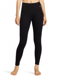 Duofold Women's Thermal Mid Weight Wicking Bottom, Black, Large