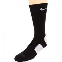 NIKE Elite Basketball Crew Socks-Small, Black/White