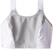 Glamorise Women's Double Layer Custom Control Sport Bra , White/Grey , 34 C