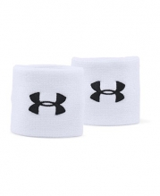 Under Armour Men's 3 Performance Wristbands, White (100), One Size