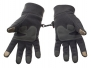 Metog Winter men and women outdoor sports warm fleece gloves touch gloves Gray M