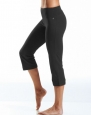 Jockey Women's Slim Capri Flare, Deep Black, Small