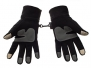 Metog Winter men and women outdoor sports warm fleece gloves touch gloves Black M